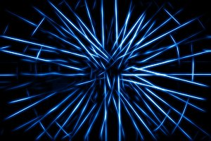 Blue teleportation rays illustration background