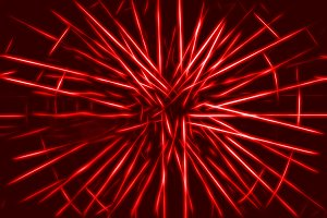 Red teleportation rays illustration background
