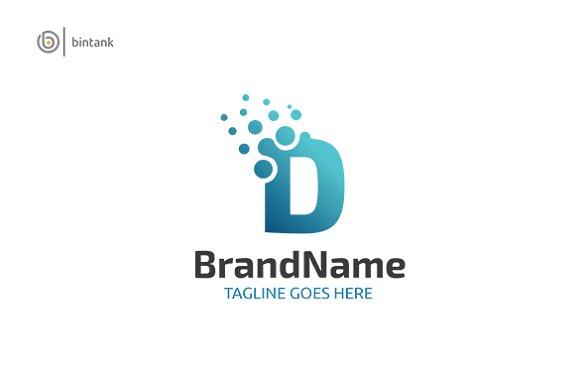 Letter D Dot Logo