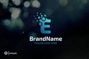 Letter E Dot Logo
