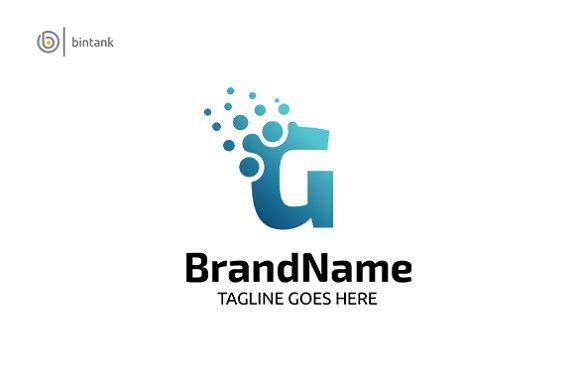 Letter G Dot Blue Logo