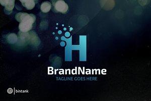 Letter H Dot Logo