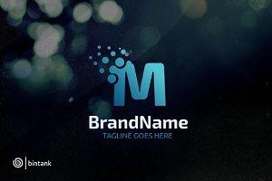 Letter M Dot Logo