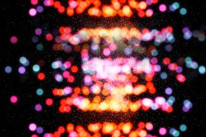Colorful space stars bokeh background