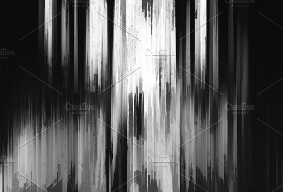 Abstract vertical bars painting background in Objects