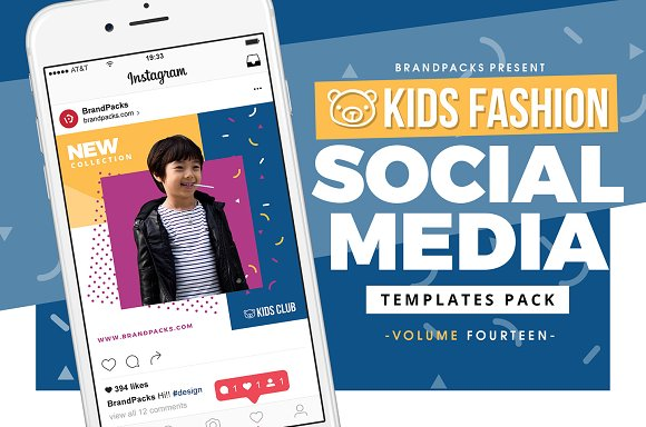 Kids Fashion Social Media Templates