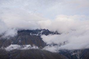 mount peak in a clouds