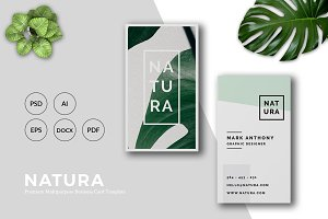 NATURA Business Card Template