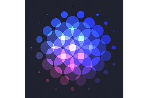 Abstract red blue vector design round elements for graphic layout
