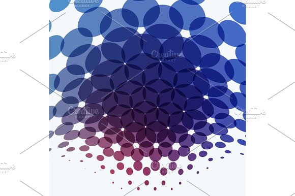 Abstract Vector Design Round Elements For Graphic Template