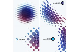Mega Set of Abstract vector design round elements for graphic template