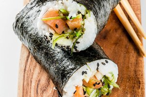 Sushi-burrito, sandwich