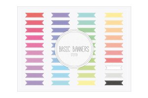 Horizontal Ribbon Banners Stitch