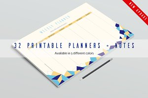 32 Printable Planners UPDATE