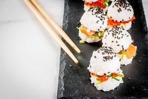 Sushi-burger, sandwiches
