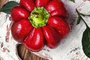 Red sweet bell pepper