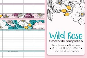 Wild Rose Timetable Templates