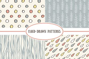 Simple cute vector patterns