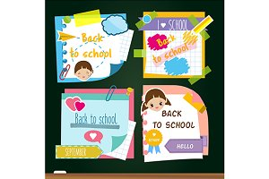 Back to school stickers, notes