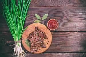 Grilled veal spices