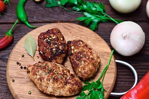 meat cutlets with spices