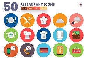 50 Restaurant Icons