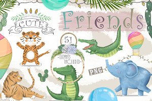 Cute Friends Graphic animals