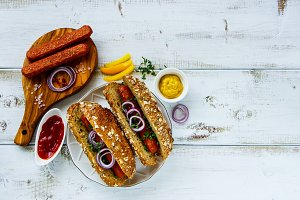 Homemade hot-dogs
