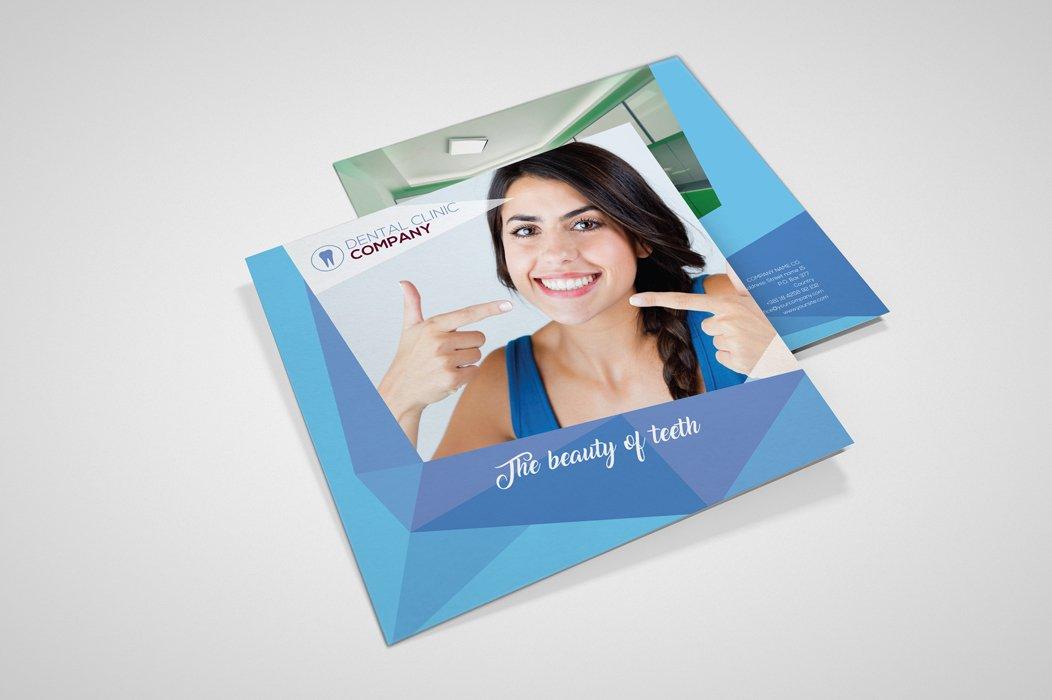 Square Dental Brochure Brochure Templates Creative Market