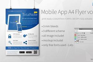 Mobile App A4 Flyer vol2