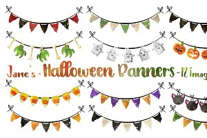 Halloween Banners Clipart
