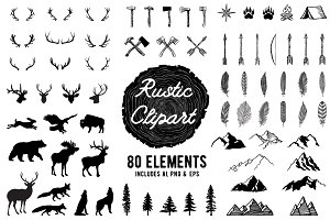 Rustic Clipart Volume 1 - AI PNG EPS