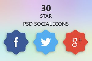 Nice Star Shaped Social Icons
