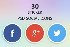 Social Icons - Sticker model