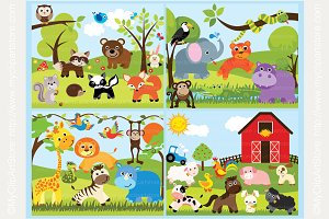 50% OFF Wild Animals Design Bundle