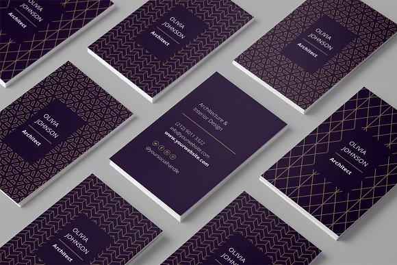 Gold foil business cards business card templates creative market colourmoves