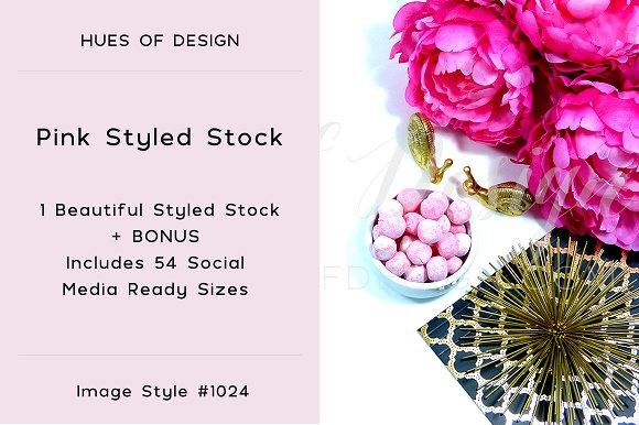 Pink Gold Desktop Styled Stock 1024