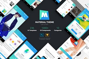 Material Theme UX/UI Kit