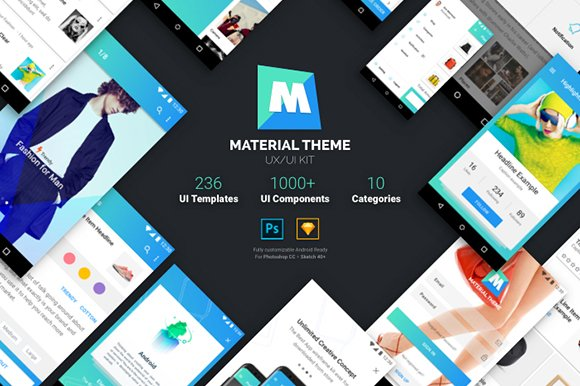 Material Theme UX UI Kit