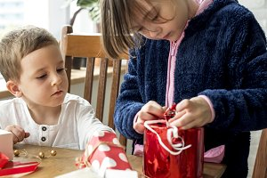 Kids with a gift