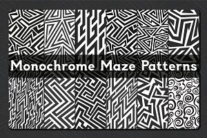 Monochrome Maze Patterns