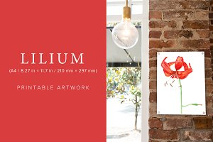 Lilium Printable Artwork