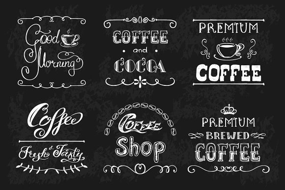 Big Pack COFFEE elements in Illustrations - product preview 3