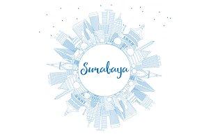 Outline Surabaya Skyline