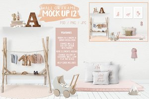 Kids Room Wall/Frame Mock Up 12