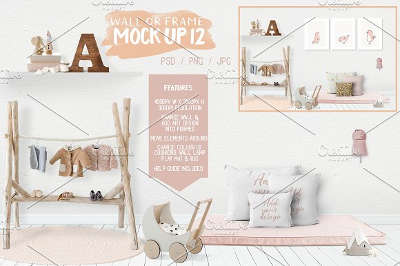 Download Kids Room Wall/Frame Mock Up 12