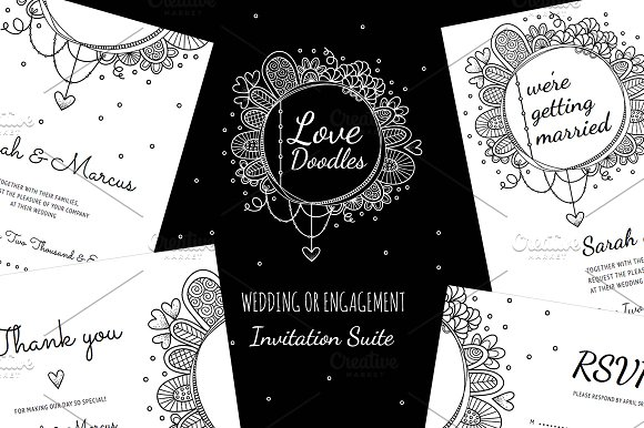 Love Doodles Wedding Collection