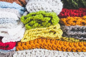 Stack Of Colorful Knitwear