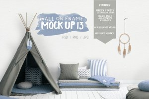 Kids Room Wall/Frame Mock Up 13