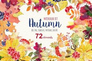Autumn rustic watercolor kit